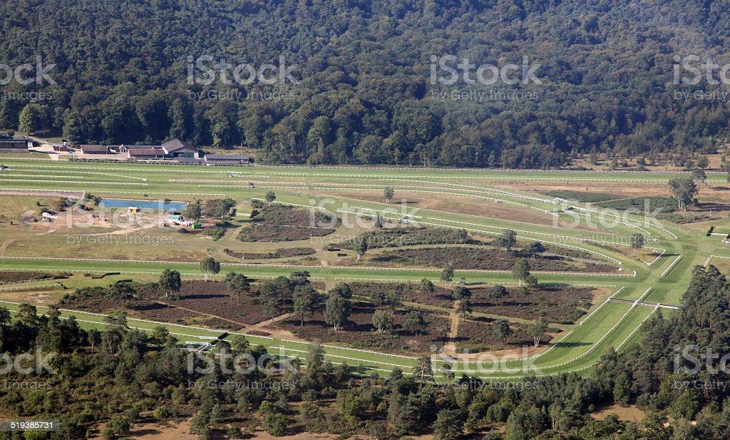 horse racetrack stock photo