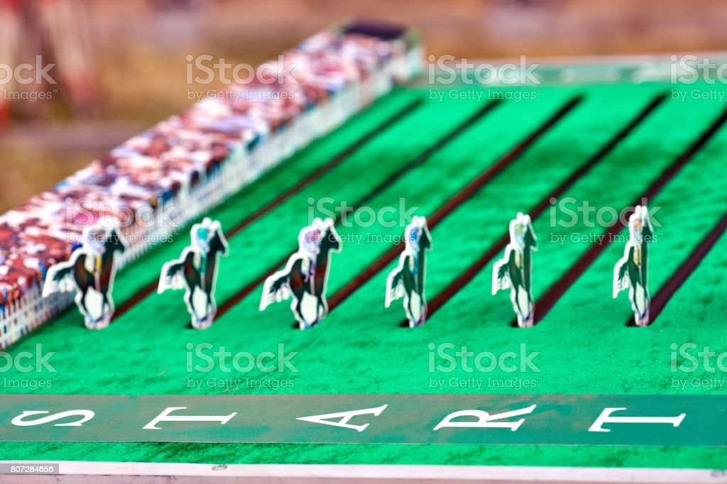 Horse Racing Board Game For Children Stock Photo Download Image Now Istock