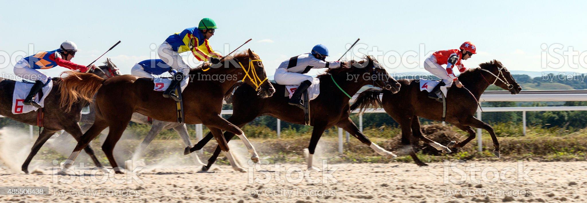 Course de chevaux à Pyatigorsk photo libre de droits