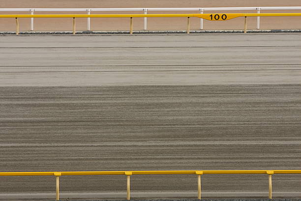 Horse Racing Track Dirt track in Racecourse. sha tin stock pictures, royalty-free photos & images