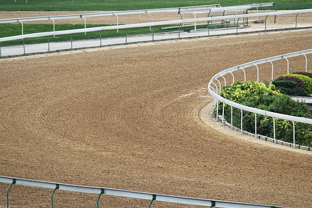 Horse Racing Track Sand track in Racecourse. sha tin stock pictures, royalty-free photos & images