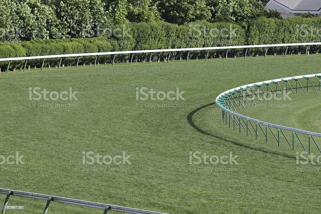 Horse Racing Track stock photo