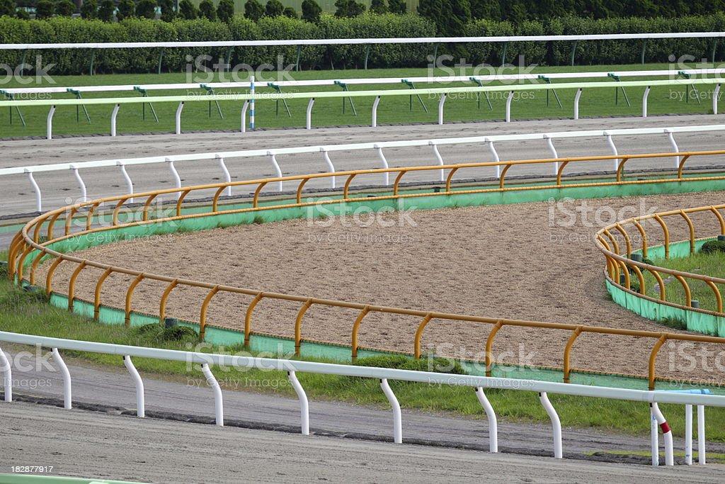 Dirt track in racecourse.