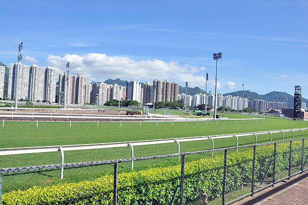 Horse Racing Track Horse Racing Track sha tin stock pictures, royalty-free photos & images