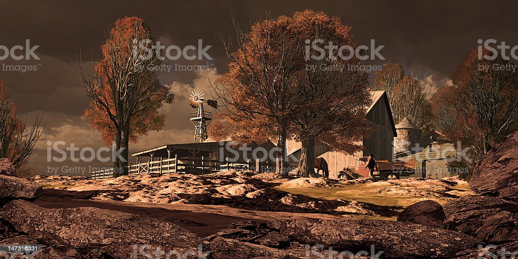 Horse Ranch In The Southwest royalty-free stock photo