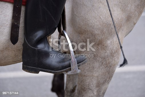 Horse riding boots, close up