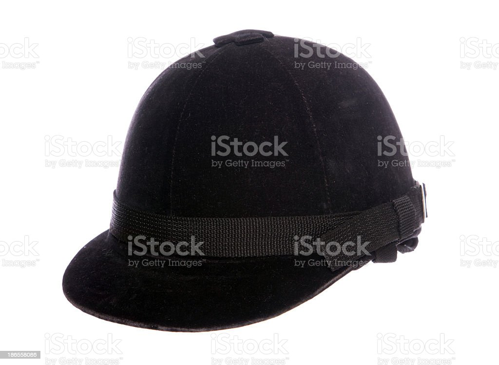 Horse riding hat stock photo