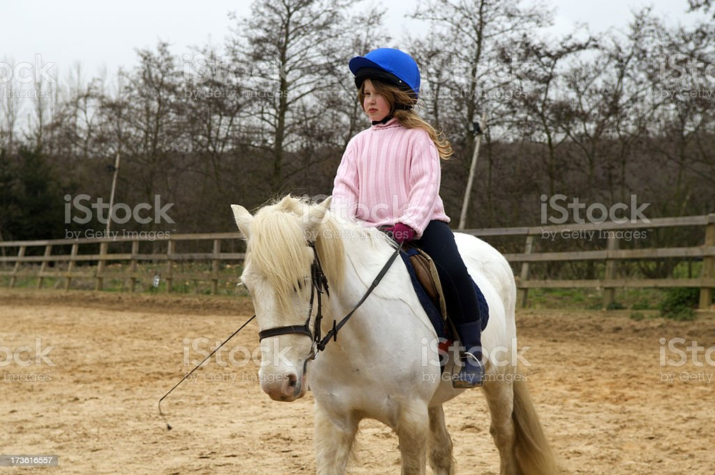 Horse Riding Lesson royalty-free stock photo