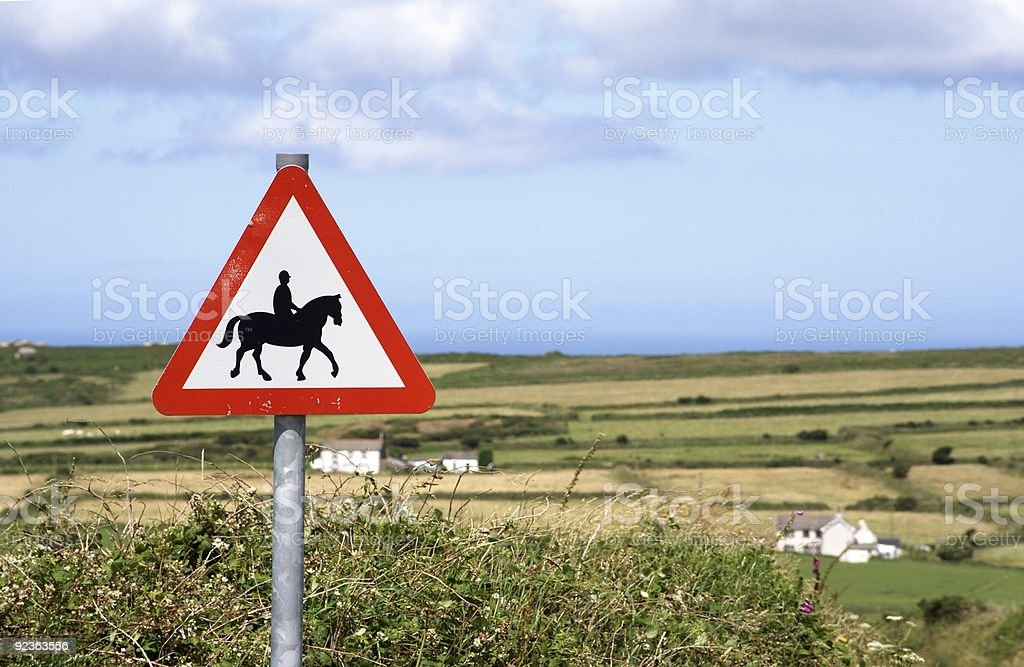 Horse Riding Sign royalty-free stock photo
