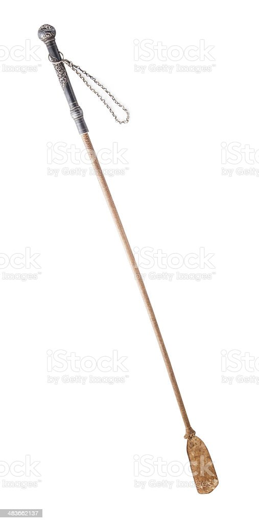 Horse riding whip stock photo