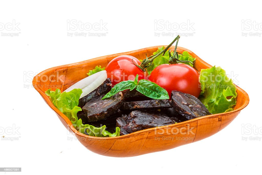 Horse sausages stock photo