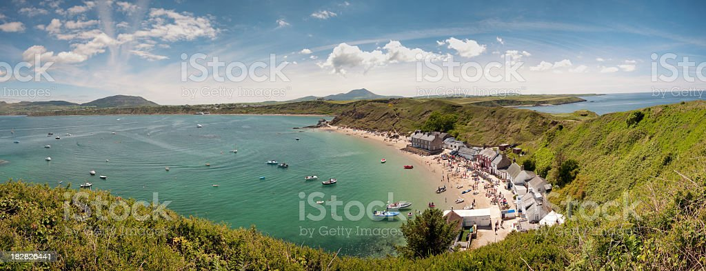 Horse shoe bay and blue sky stock photo