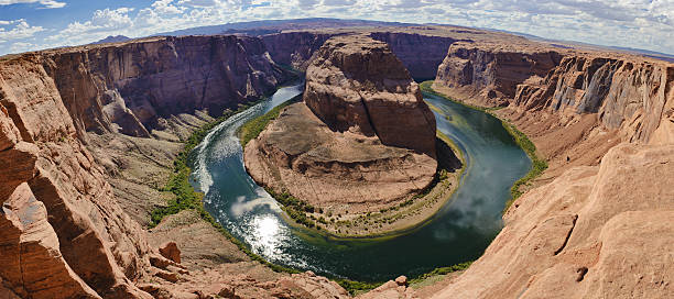 Horse shoe bend stock photo