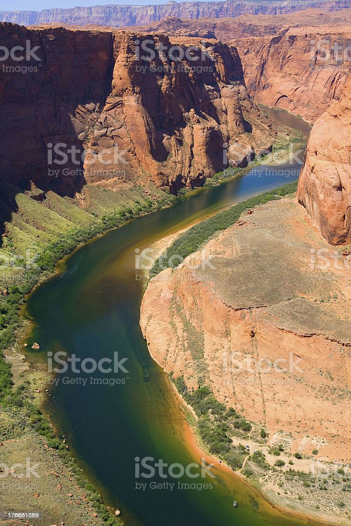 Horse shoe bend royalty-free stock photo