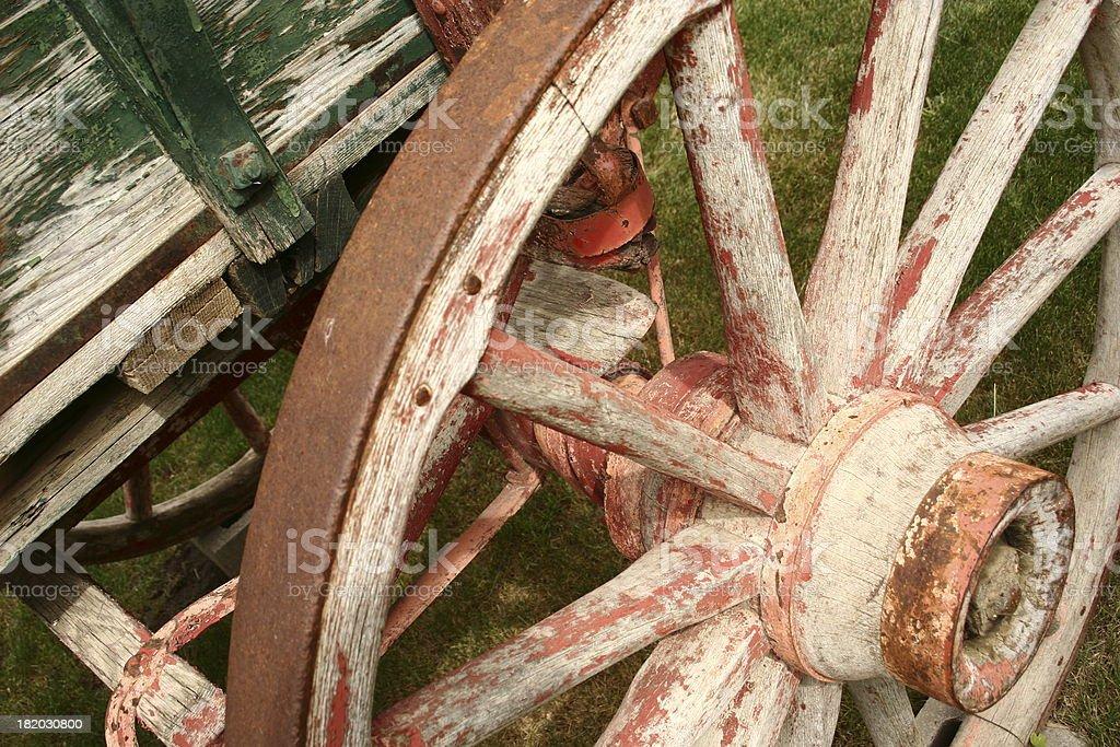 Horse wagon stock photo