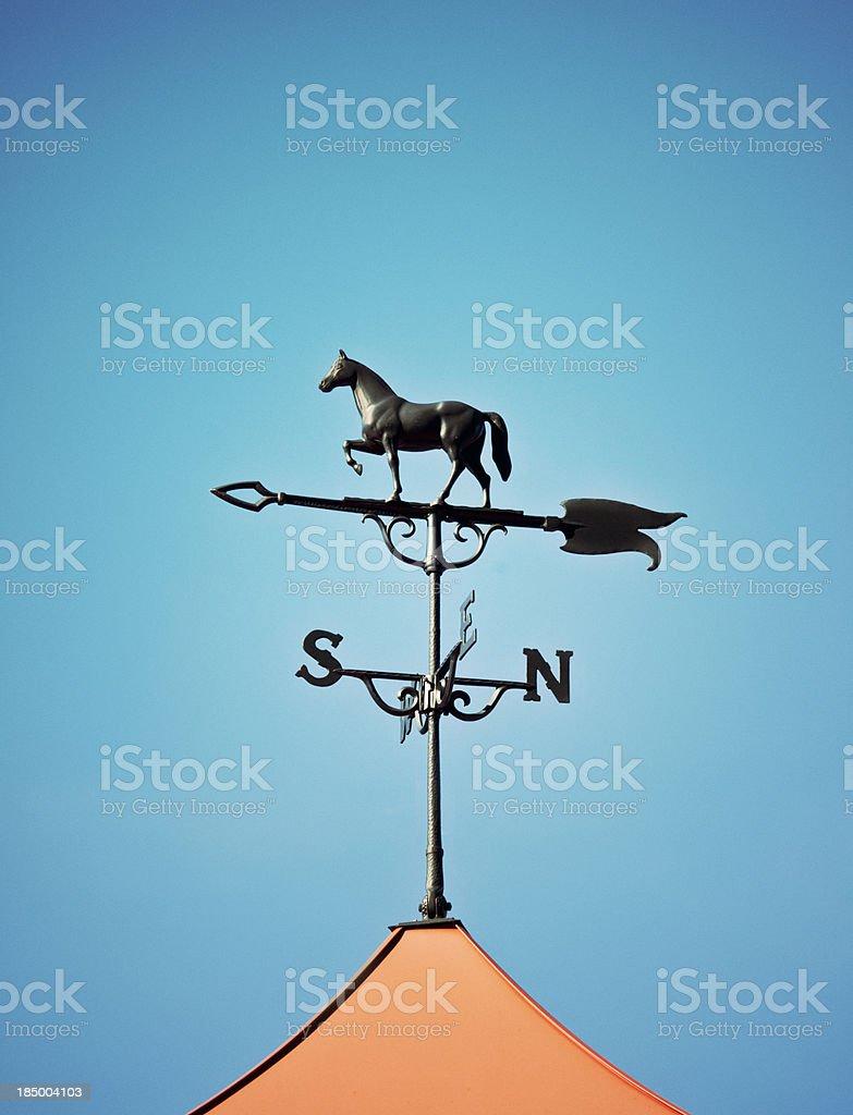 horse weather vane stock photo