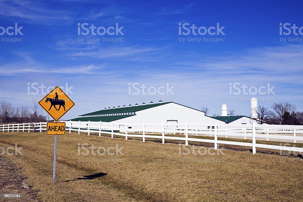 Horseback Riding sign royalty-free stock photo