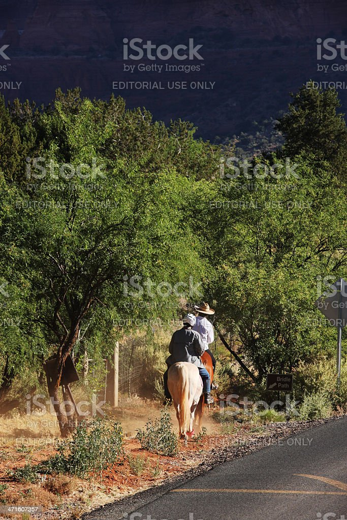 Horseback Trail Riding Bridle Path royalty-free stock photo