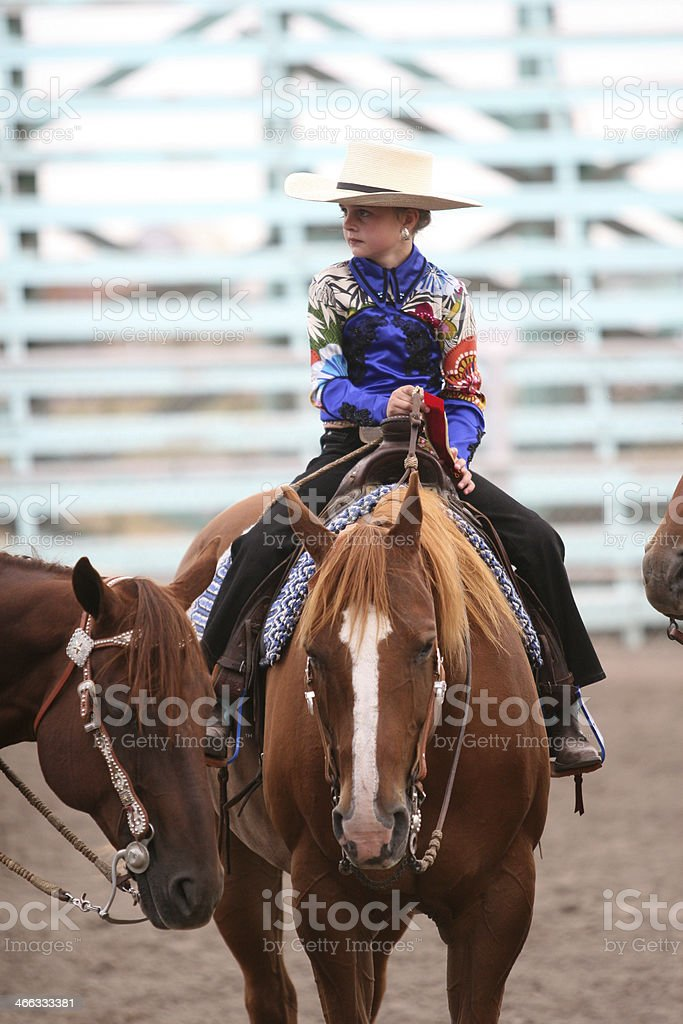 Horsebackriding royalty-free stock photo