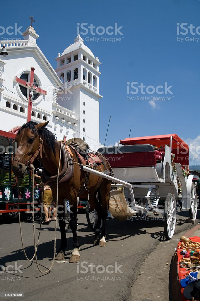 Horse-drawn carriage royalty-free stock photo