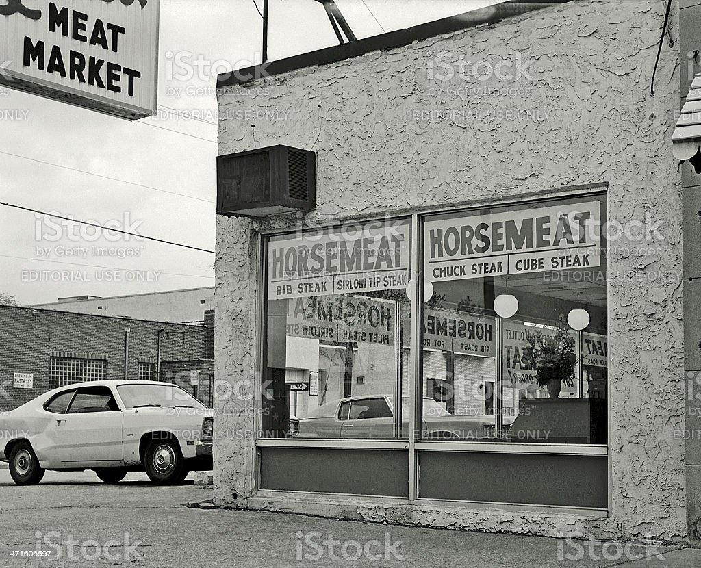 Horsemeat. stock photo