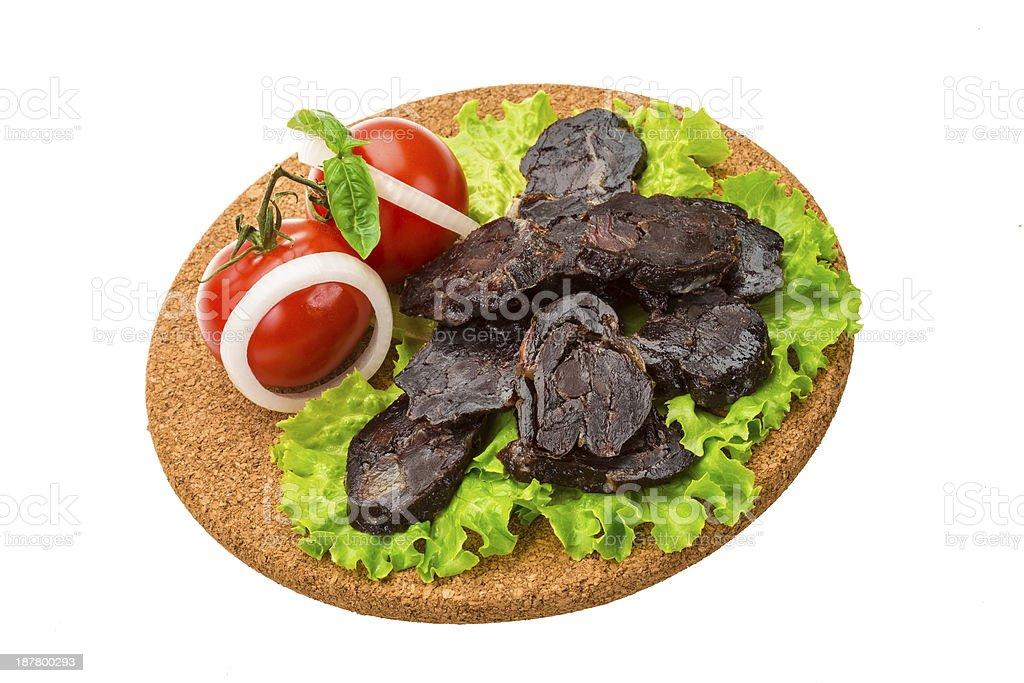 Horsemeat sausage royalty-free stock photo