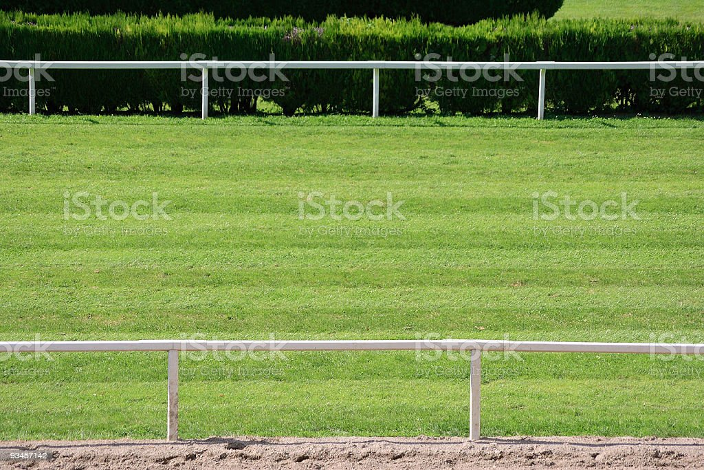 Horseracing track stock photo