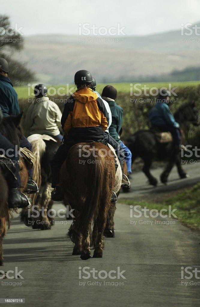 Horseriders royalty-free stock photo