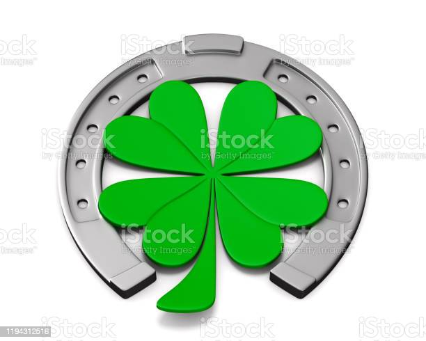 Horseshoe and clover on white background isolated 3d illustration picture id1194312516?b=1&k=6&m=1194312516&s=612x612&h=5svympz0pj66fdjnbq82vrmsqi9vclk7mmhl4wjw000=
