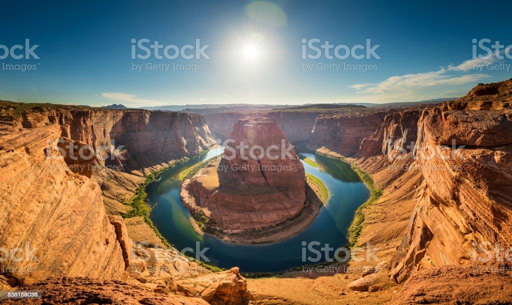Horseshoe Bend, Arizona, Colorado River, US stock photo