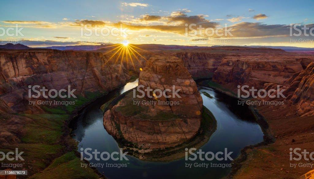 Hufeisen Bend at sunset, Arizona, USA – Foto