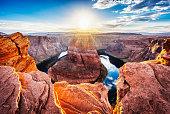 istock Horseshoe Bend At Sunset - Colorado River, Arizona 605753822