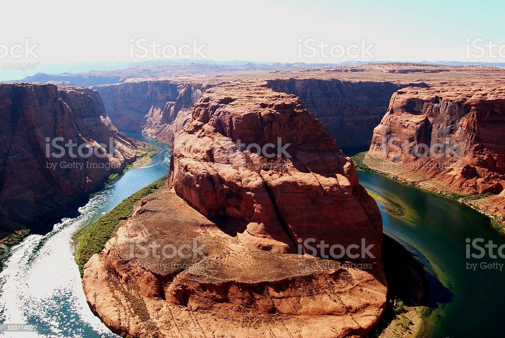 Horseshoe Bend, Colorado River, USA stock photo
