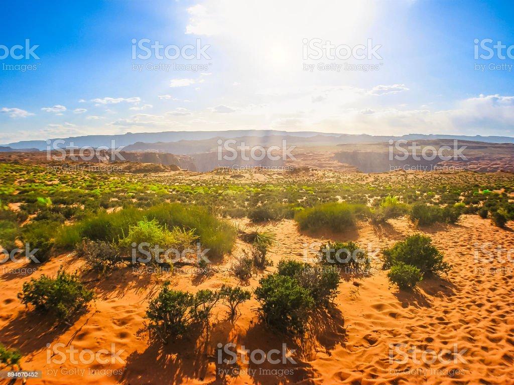 Horseshoe Bend desert stock photo