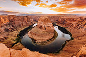 Horseshoe Bend During Sunset - Colorado River, Arizona