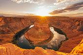 Horseshoe Bend During Sunset - Colorado River, Arizona