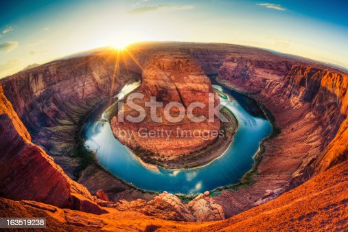 Horseshoe bend in Grand Canyon, Arizona, USA.