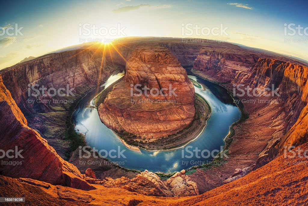 Horseshoe bend, Grand Canyon, USA stock photo