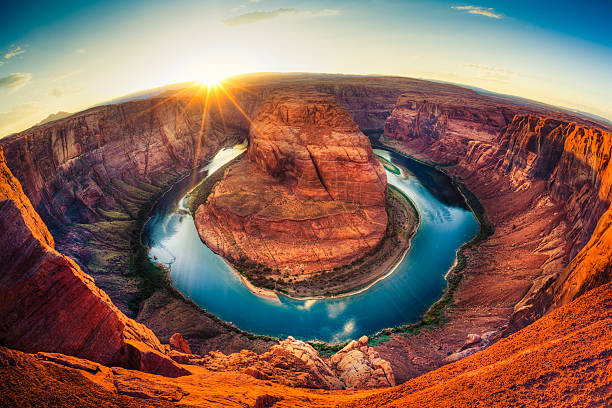Horseshoe bend, Grand Canyon, USA stock photo