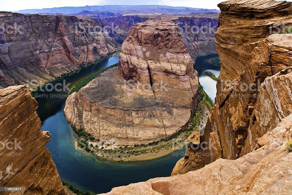 horseshoe bend in page, Arizona stock photo