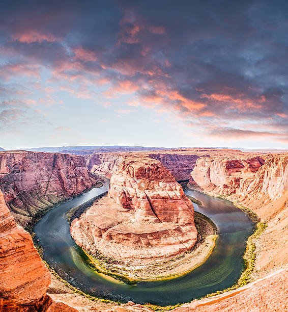 Horseshoe Bend In Page Arizona stock photo