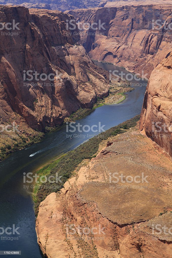 Horseshoe bend of Colorado river royalty-free stock photo