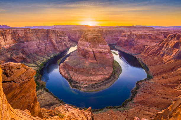 Horseshoe Bend on the Colorado River stock photo
