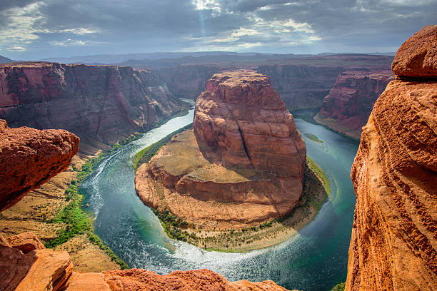 Horseshoe Bend Majestic Horsehoe Bend in Page Arizona colorado river stock pictures, royalty-free photos & images