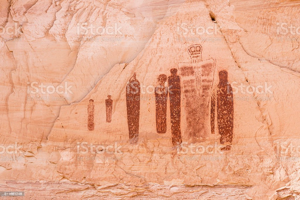 Horseshoe Canyon Great Ghost stock photo