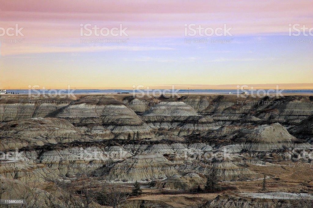 Horseshoe Canyon near Drumheller, Alberta stock photo