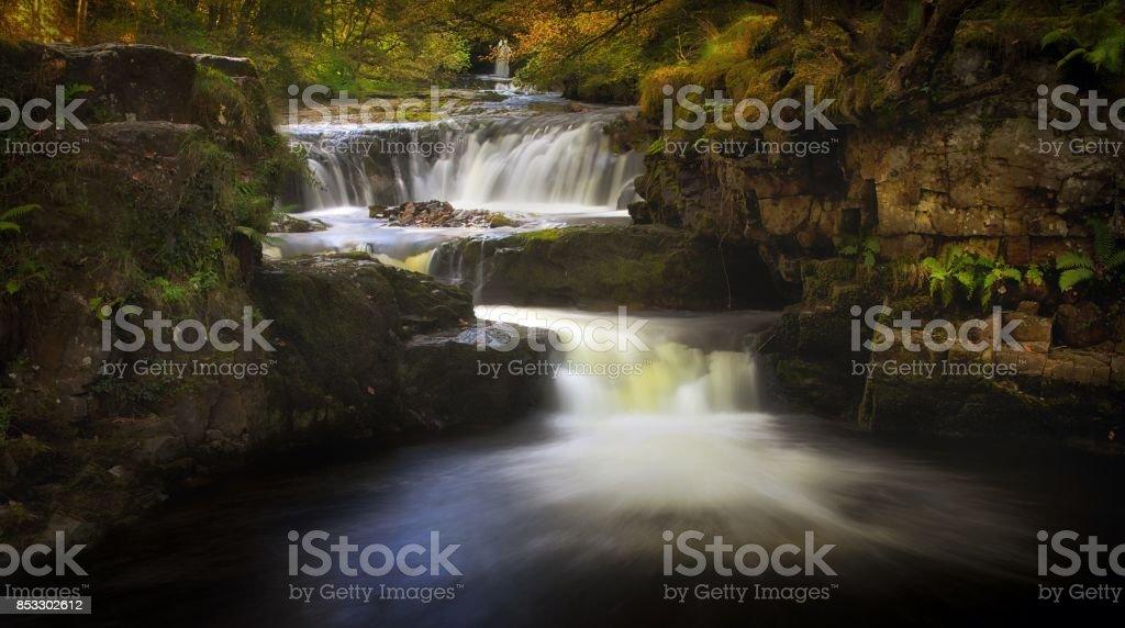 Horseshoe falls Sgwd y Bedol stock photo