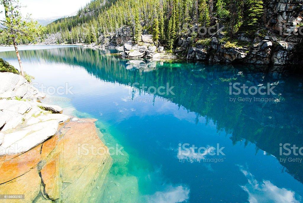 Horseshoe Lake, Jasper National Park, Canadian Rockies stock photo
