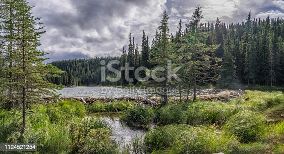 Braver lodge on Horseshoe Lake in Denali National Park