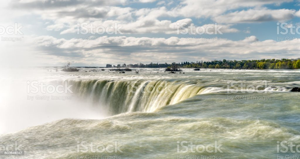 Horseshoe or Canadian Falls at Niagara Falls stock photo